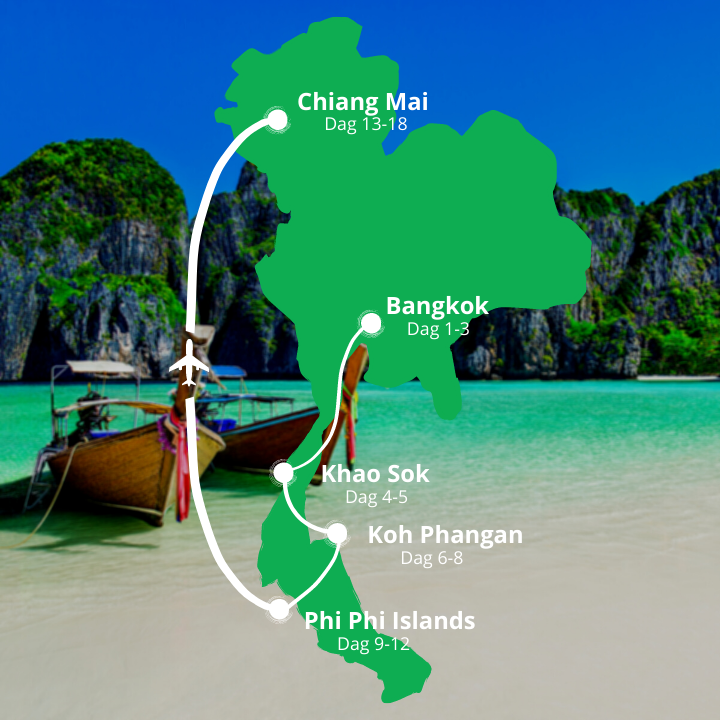 Grupperejse til Thailand kort
