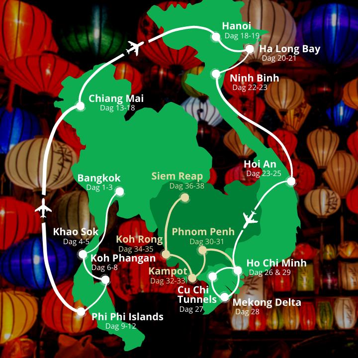 38 dages rejse i Thailand, Vietnam og Cambodja